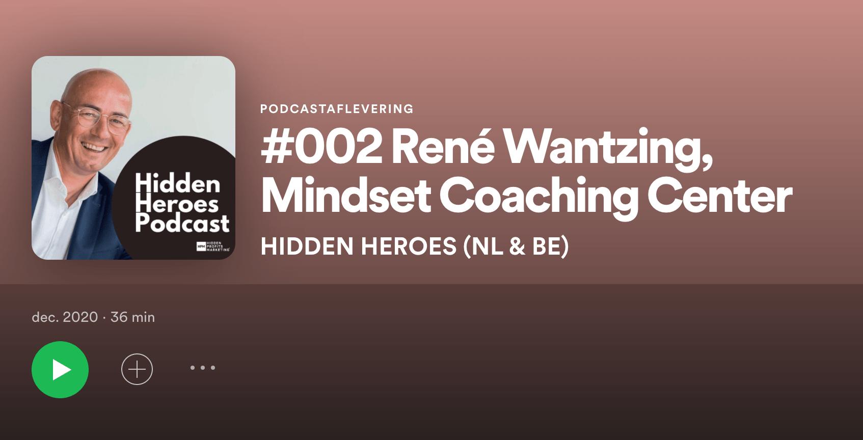 Hidden Heroes Podcast Rene Wantzing