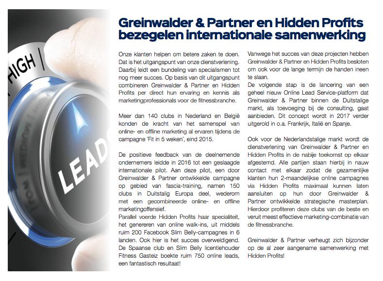 Aankondiging: samenwerking met Greinwalder & Partner