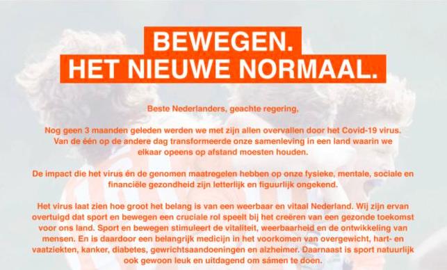 Manifest Bewegen het Nieuwe Normaal (download PDF)